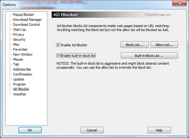 ad blocker options