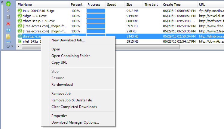 Super-fast Internet Download Manager in SlimBrowser