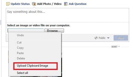 Upload Clipboard Image