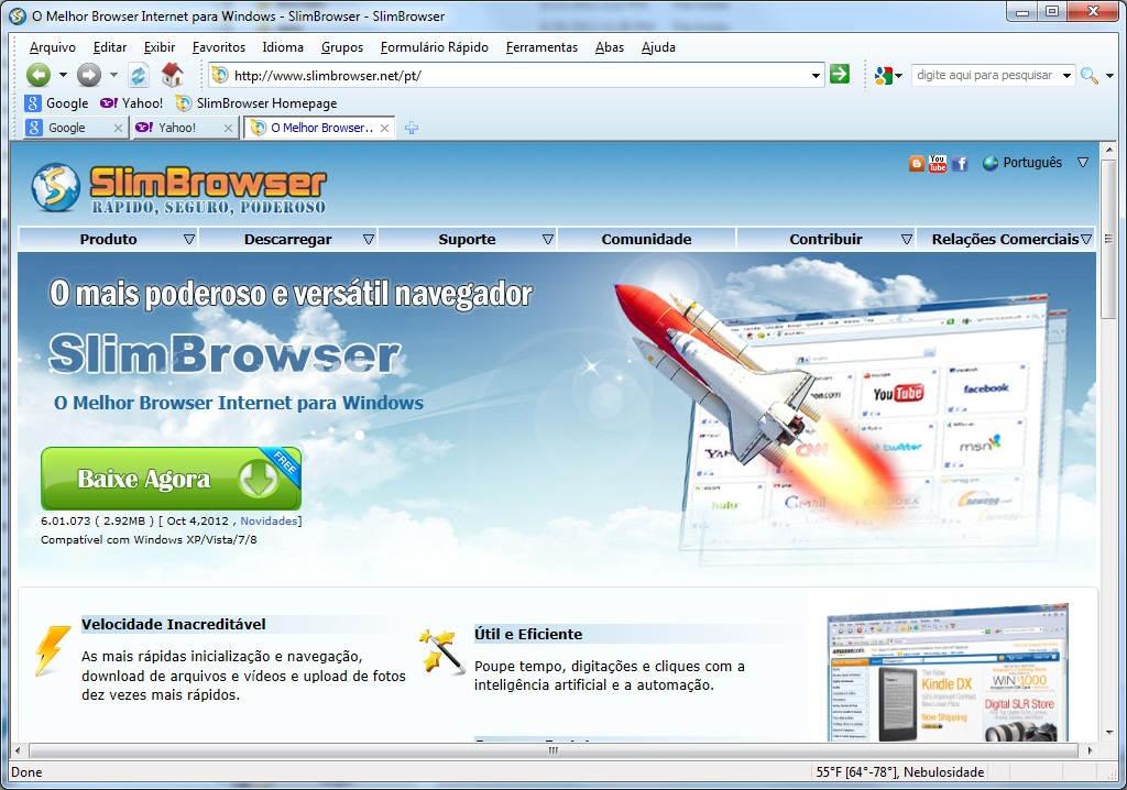 browser main window